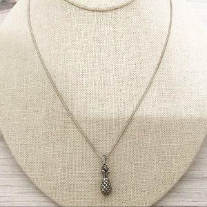 • Vintage • Sterling Pineapple Necklace